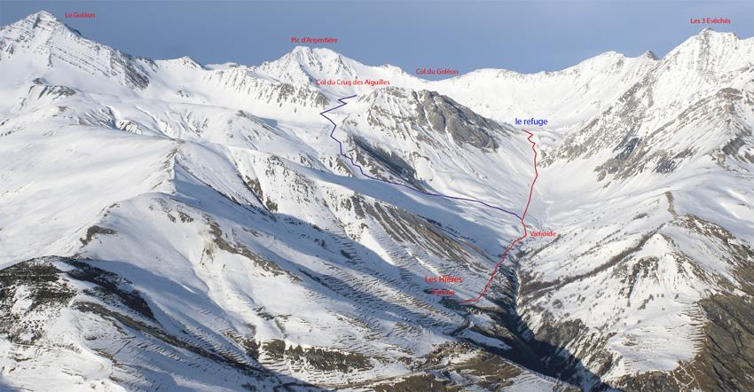 acces ski rando refuge du goleon